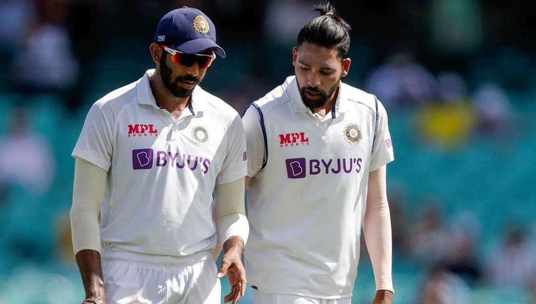 Jasprit Bumrah and Mohammed Siraj