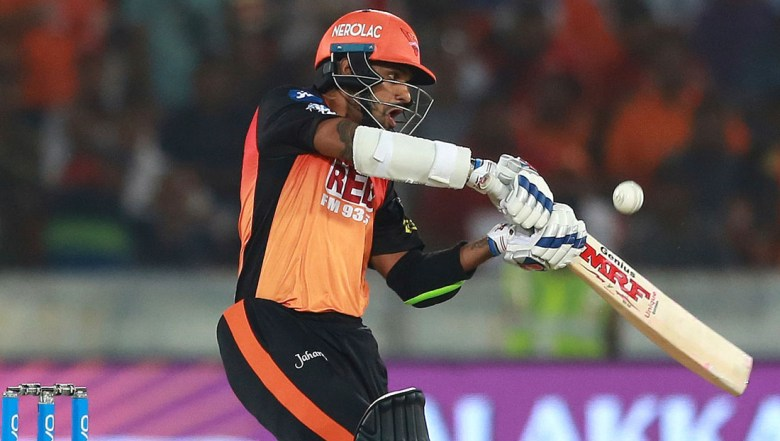 Sunrisers Hyderabad player Shikhar Dhawan bats