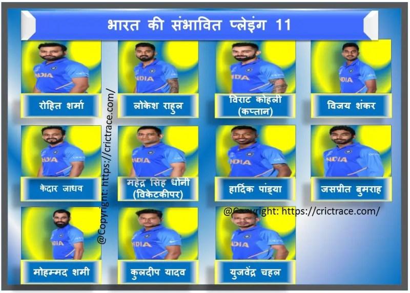 भारत vs पाकिस्तान: भारत की संभावित प्लेइंग 11