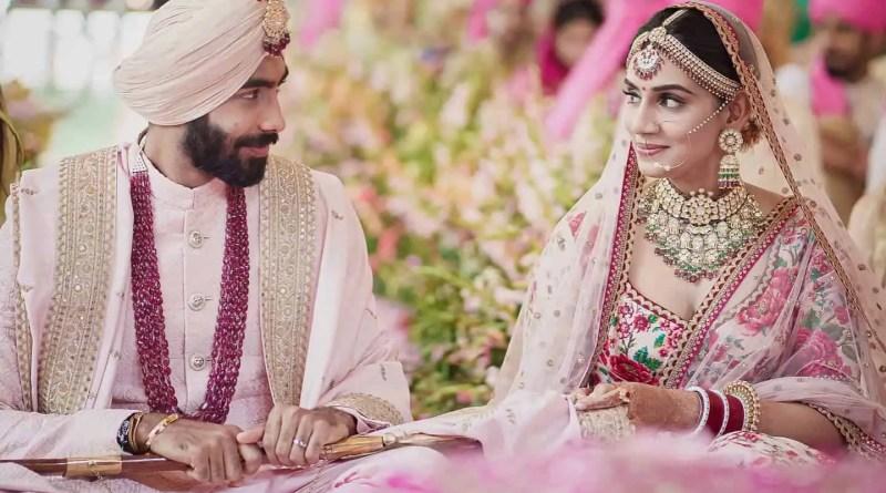 jasprit bumarah with his wife Sanjana Ganeshan