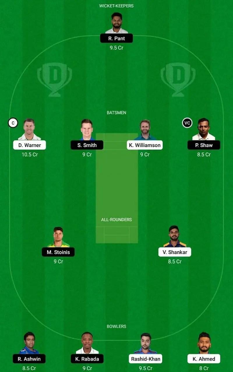 IPL 2021 20th Match SRH vs DC Dream11