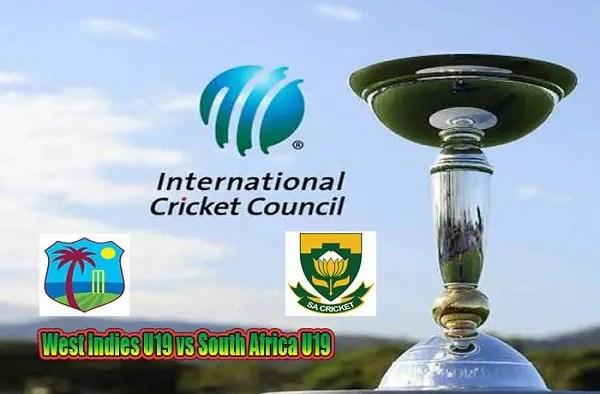 WI U19 vs SA U19 Live Score 5th Place Playoff Semi-Final 1 of U19 WC between West Indies U19 vs South Africa U19on 1 February 2020 Live Score & Live Streaming
