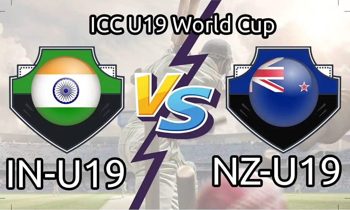 IND U19 vs NZ U19 Live Score, 20th Match, India U19 vs New Zealand U19 Live 1