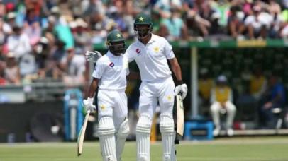 Babar Azam and Shan Masood steady the ship for Pakistan