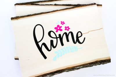 Create and sell hand lettered wooden signs made with your Cricut machine.