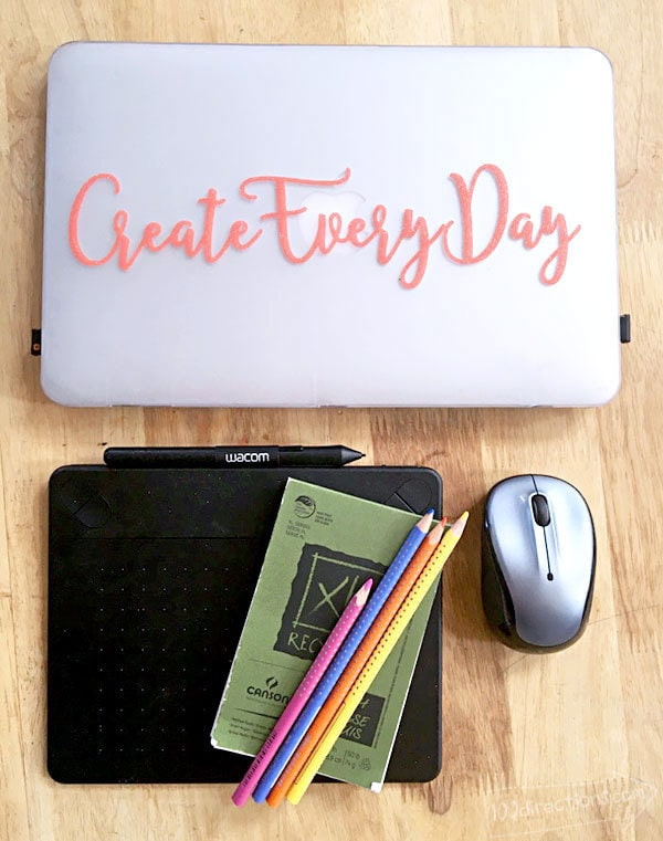Personalize laptop and phone cases using vinyl lettering. Great idea to make and sell at special events!