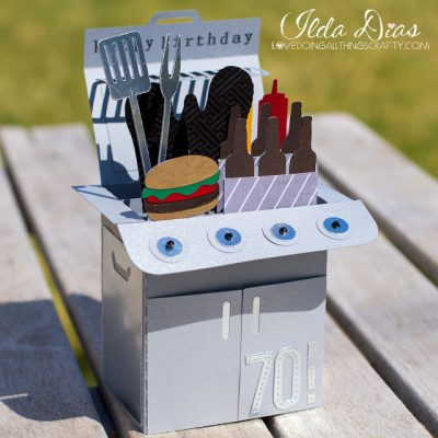 Barbecue grill Birthday/ Father's Day card idea!