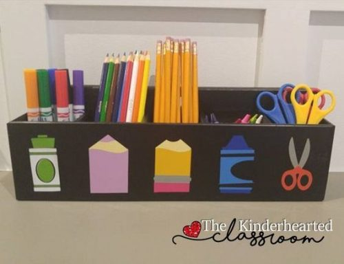 Love this school supplies station! Would like to make this for the kids.