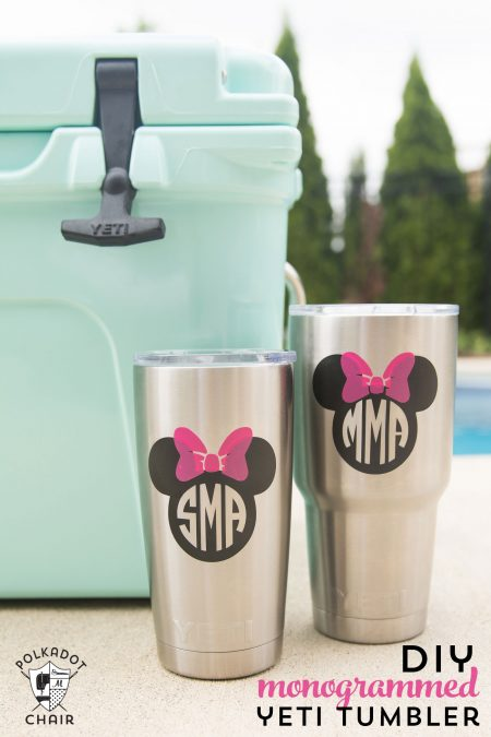 Create disney character themed tumblers for your family vacation!