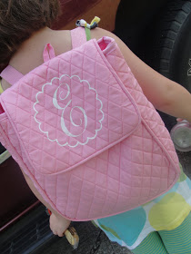 Cute back pack idea! vinyl made with Cricut