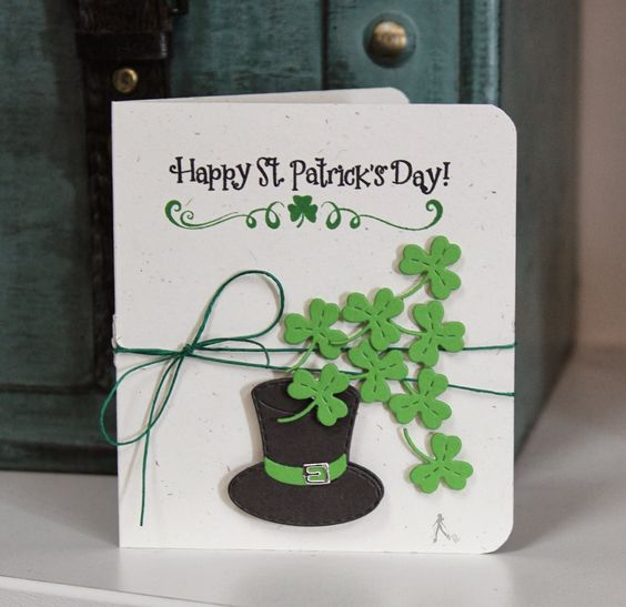 St.Patricks day card idea- made with Cricut