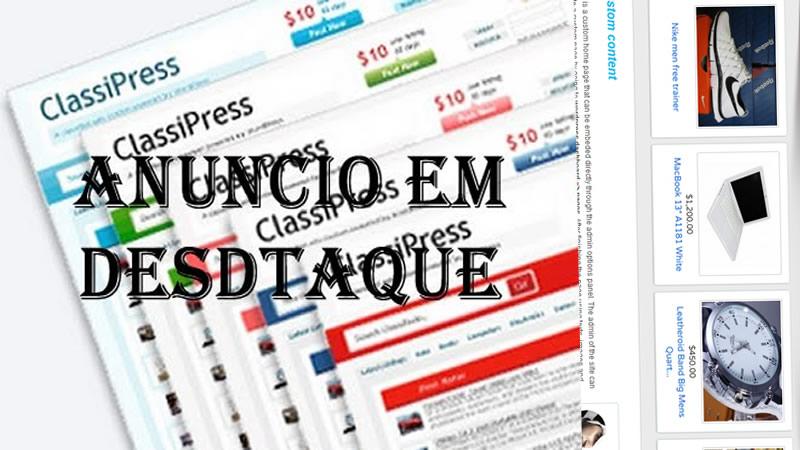 Como colocar anuncios em destaque Classipress | Crie Net