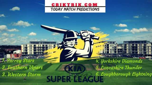 Womens Cricket Super League 2019 criktrik - LBL vs SST, 24th T20 - Today Match Prediction & Betting Tips | WCSL 2019