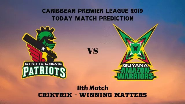 snp vs gaw 11th match prediction - SNP vs GAW, 11th T20 - Today Match Prediction, CPL 2019