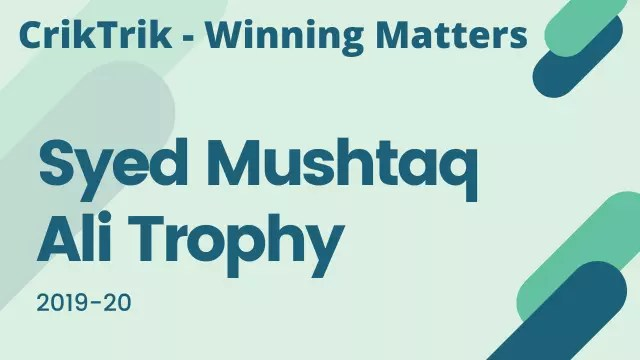 syed mushtaq ali trophy predictions - Karnataka vs Tamil Nadu Today Match Prediction - Final