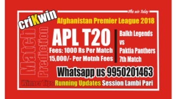Today Match Prediction BAL vs PAK 7th APL T20 Match