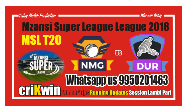 Who Win Today Durban Heat vs Nelson Mandela Bay Giants MSL 2018 8th Match