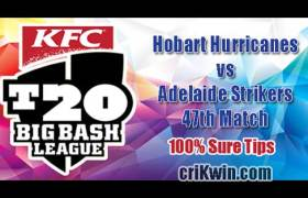 HBH vs ADS Match Reports BBL T20 47th 100% Sure Match Prediction
