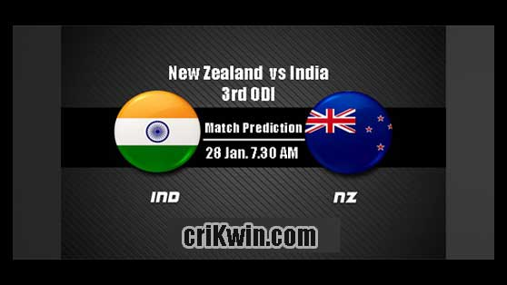NZL vs IND Today Match Reports 3rd ODI 100% Sure Match Prediction