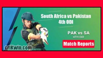 PAK vs RSA Today Match Reports 4th ODI 100% Sure Match Prediction