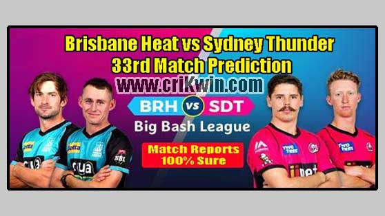 SYT vs BRH Today Match Reports BBL 33th 100% Sure Match Prediction