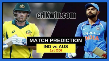 Who Win Today 1st ODI Match Australia vs India