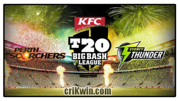 Who Win Today BBL 2019 17th Match Perth vs Thunder