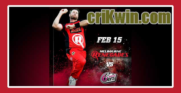 Renegades vs Sixer BBL T20 2nd Semifinal Today Match Prediction Tips