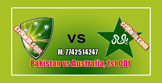 Australia vs Pakistan 1st ODI Today Match Prediction Who win