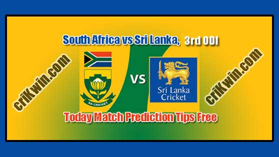 South Africa vs Sri Lanka 3rd ODI 2019 Today Match Prediction