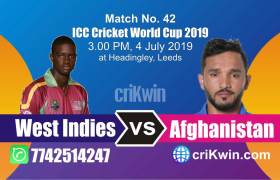 AFG vs WI 42nd Match World Cup 2019 Winner Astrology Predict