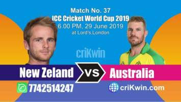NZ vs Aus 37th Match World Cup 2019 Winner Astrology Predict