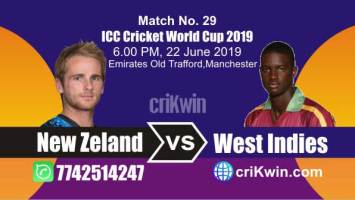 WI vs NZL 29th Match World Cup 2019 Winner Astrology Predict
