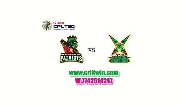 CPL 2019 Cricket Match Prediction 100% Sure Guyana vs Nevis Patriots 11th Match Who will win today GUY vs SKN