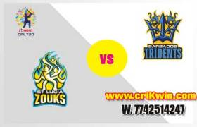 CPL 2019 Today Match Prediction Raja Babu Lucia Zouks vs Barbados 17th Match Who will win today BT vs SLZ