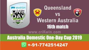 Marsh One Day Cup 100% Sure Today Match Prediction winning chance of WAU vs QUN 16th Cricket True Astrology Winner Toss Tips Who will win today