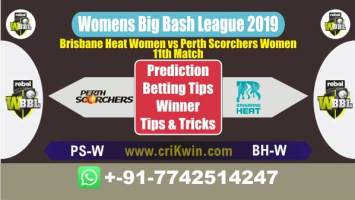 WBBL 2019 100% Sure Today Match Prediction winning chance of BHW vs PSW 11th Cricket True Astrology Winner Toss Tips Who will win today