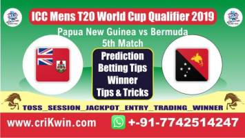 Today Match Prediction ICC T20 Qualifier PNG vs BER 5th T20 Match Cricket predict for today match BER vs PNG Raja Babu