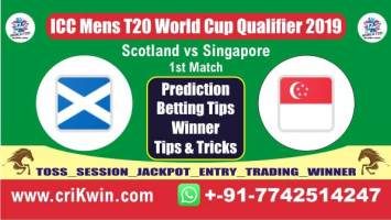 ICC T20 Qualifier Today Match Prediction SIN vs SCO 1st Match Who Will Win