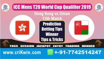ICC T20 Qualifier 100% Sure Today Match Prediction OMN vs HK 13th T20 Match Cricket True Astrology Winner Tips Toss Reports HK vs OMN Who will win today