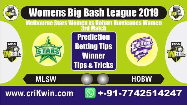 WBBL 2019 100% Sure Today Match Prediction SYTW vs MLSW 3rd Match Cricket True Astrology Winner Tips Toss Reports MLSW vs HOBW Who will win today