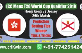 WC T20 Qualifier 100% Sure Today Match Prediction winning chance of JER vs HK 26th Cricket True Astrology Winner Toss Tips Who will win today