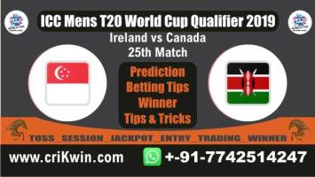 WC T20 Qualifier 100% Sure Today Match Prediction winning chance of CAN vs IRE 25th Cricket True Astrology Winner Toss Tips Who will win today