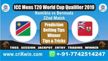NAM vs BER 22nd T20 WC T20 Qualifier Today Match Prediction Who will win today Prediction All Match reports ICC Men's WC T20 Qualifier 2019 by experts, All fixture Guess for today astrology