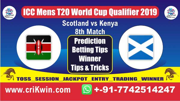 ICC T20 Qualifier 100% Sure Today Match Prediction KEN vs SCO 8th T20 Match Cricket True Astrology Winner Tips Toss Reports SCO vs KEN Who will win today