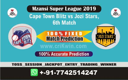 MSL 2019 Today Match Prediction JOZ vs CTB 6th Match Who Will Win