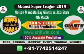 MSL 2019 Today Match Prediction JOZ vs NMG 4th Match Who Will Win