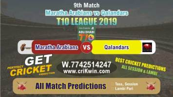 T10 2019 Today Match Prediction MAR vs QAL 9th Match Who Will Win