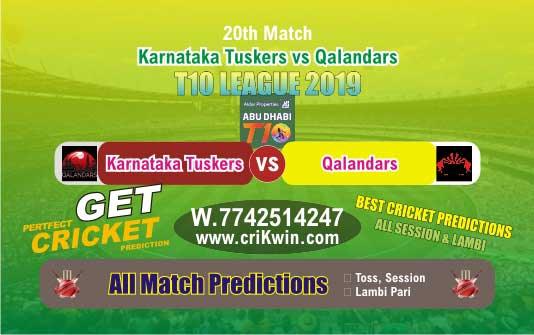 T10 League 2019 Today Match Prediction QAL vs KAT 20th Who Will Win