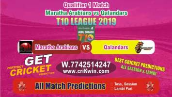 T10 League 2019 Today Match Prediction QAL vs MAR Qualifier Match Who Will Win